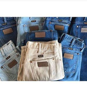 Vintage high waisted indigo wrangler jeans